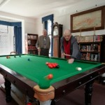 The snooker table in the Fiction Library